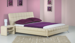 Postel Bonita s 2x noční stolek bílá