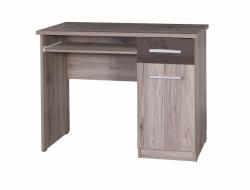psací stůl BRICO Barevné provedení SONOMA/BÍLÝ LESK