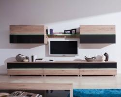 obývací stěna ADEN 01 barevné provedení: san remo / grafitový (š