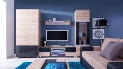 obývací stěna ADEN 02 barevné provedení: san remo / grafitový (š