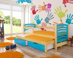 Dětská postel AVILA barevné provedení zelená