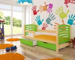 Dětská postel CAMINO barevné provedení zelená
