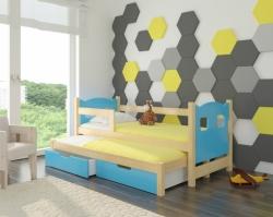 Dětská postel CAMPOS barevné provedení zelená
