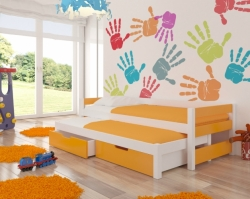 Dětská postel FRAGA barevné provedení zelená