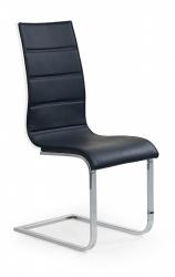 Židle K104 barva: bílá eko-kůže / šedá