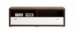 Televizní stolek KENDO K7 barevné provedení kaštan wenge/bílá