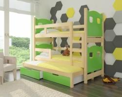 Dětská postel LETICIA barevné provedení zelená