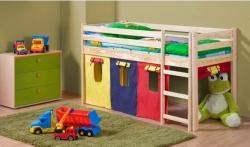 Dětská postel z masivu NEO odstín dřeva borovice