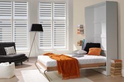 Sklopná postel do skříně svislá šíře lůžka: 90 cm, barevné prove