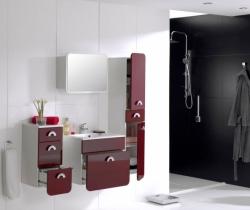 Koupelnový set RONDO bordó