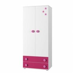 šatní skříň SIMBA 01 barevné provedení bílá/modrá