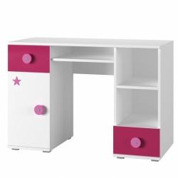 dětský psací stůl SIMBA 13 barevné provedení bílá/modrá