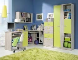 Dětský pokoj TENUS 1 barevné provedení santana/lemond