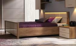 Postel WIEN s roštem a LED osvětlením rozměr postele: 140 x 200,